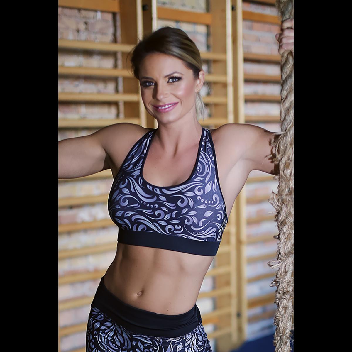 Fekete elegance női fitness sport top - CCK - COCKTAIL SPORT