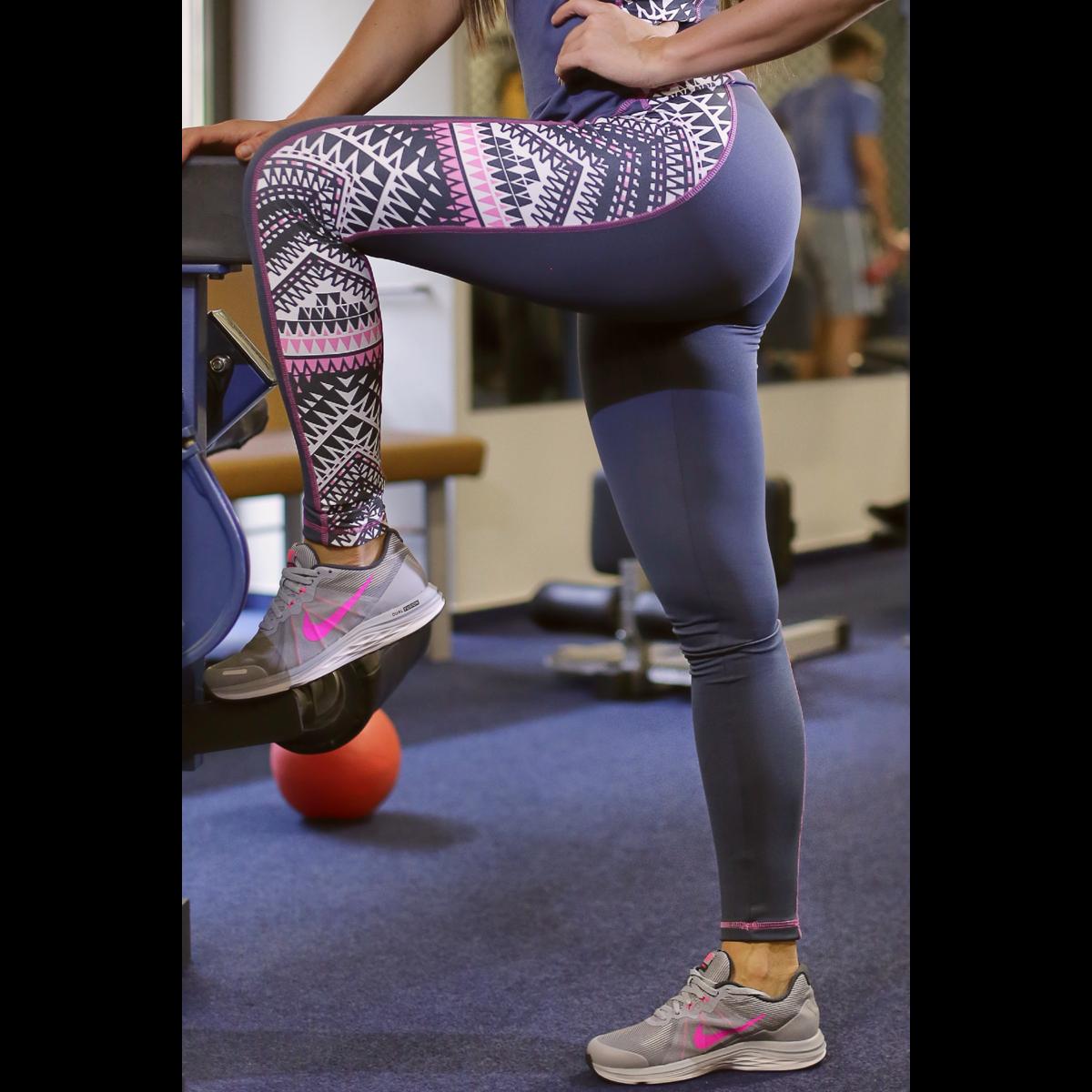 Indiana mintás női fitness boka nadrág - CCK - COCKTAIL SPORT