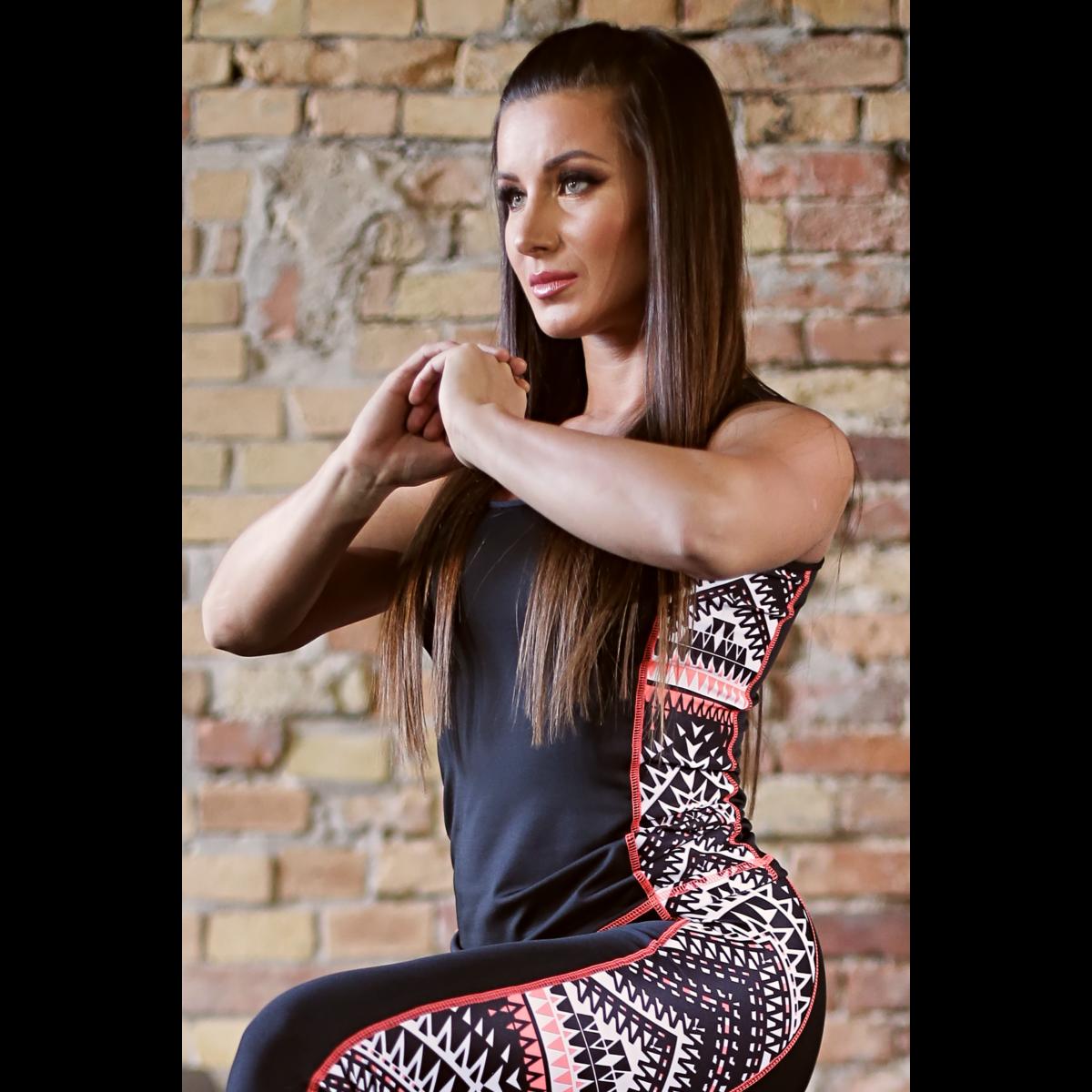 Indiana mintás női fitness oldalbetétes atléta - CCK - COCKTAIL SPORT