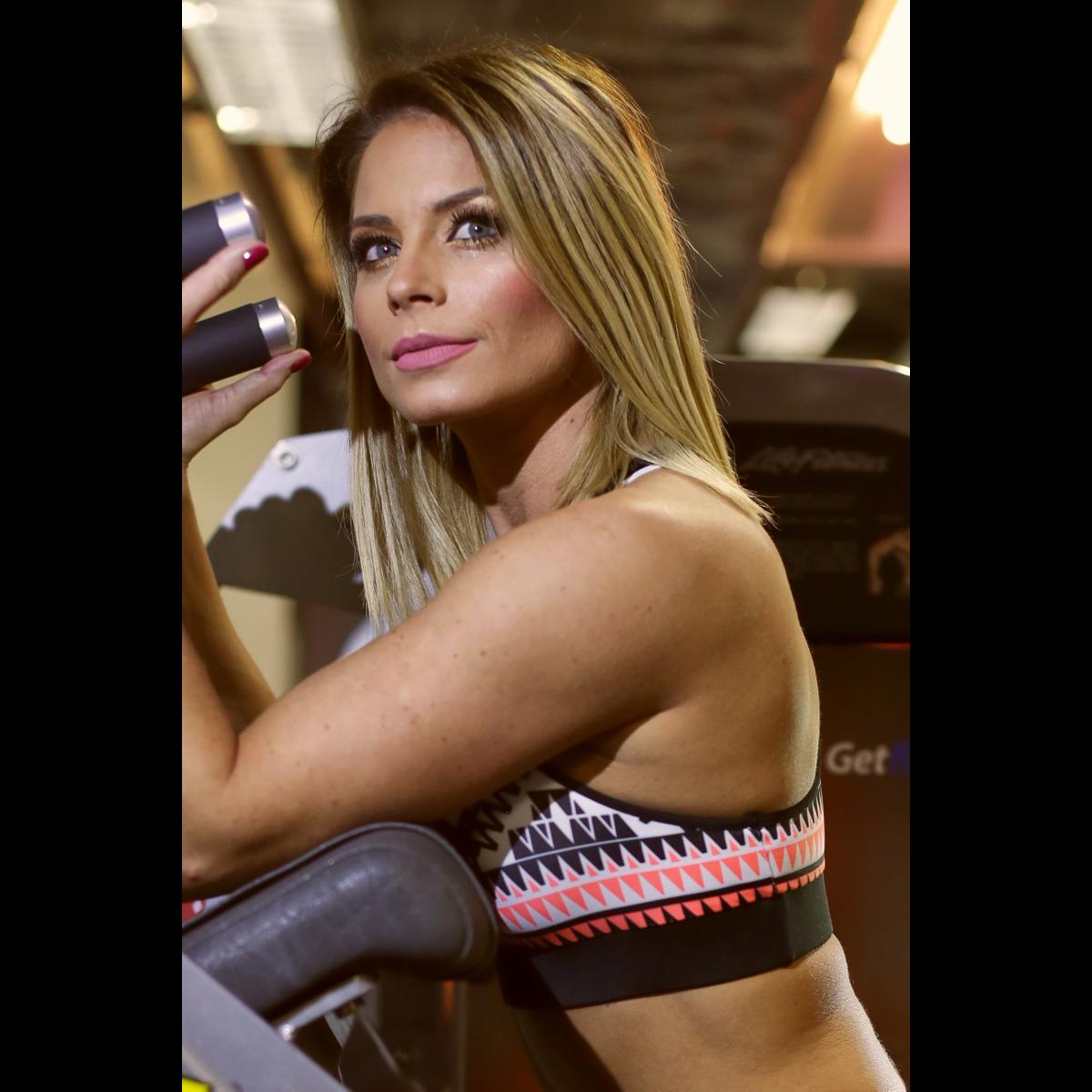 Indiana mintás női fitness top - CCK - COCKTAIL SPORT