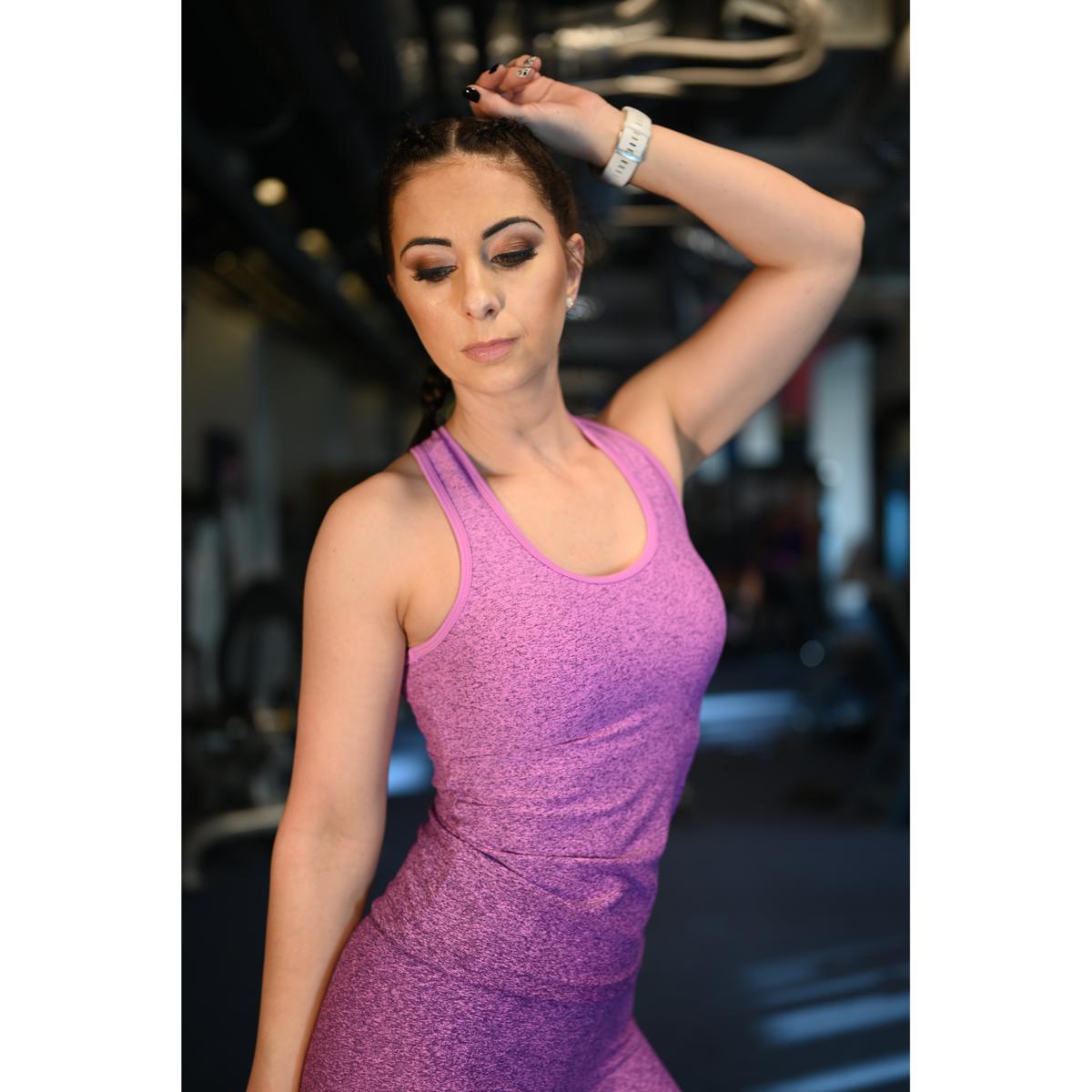 Melange lila női fitnesz atléta