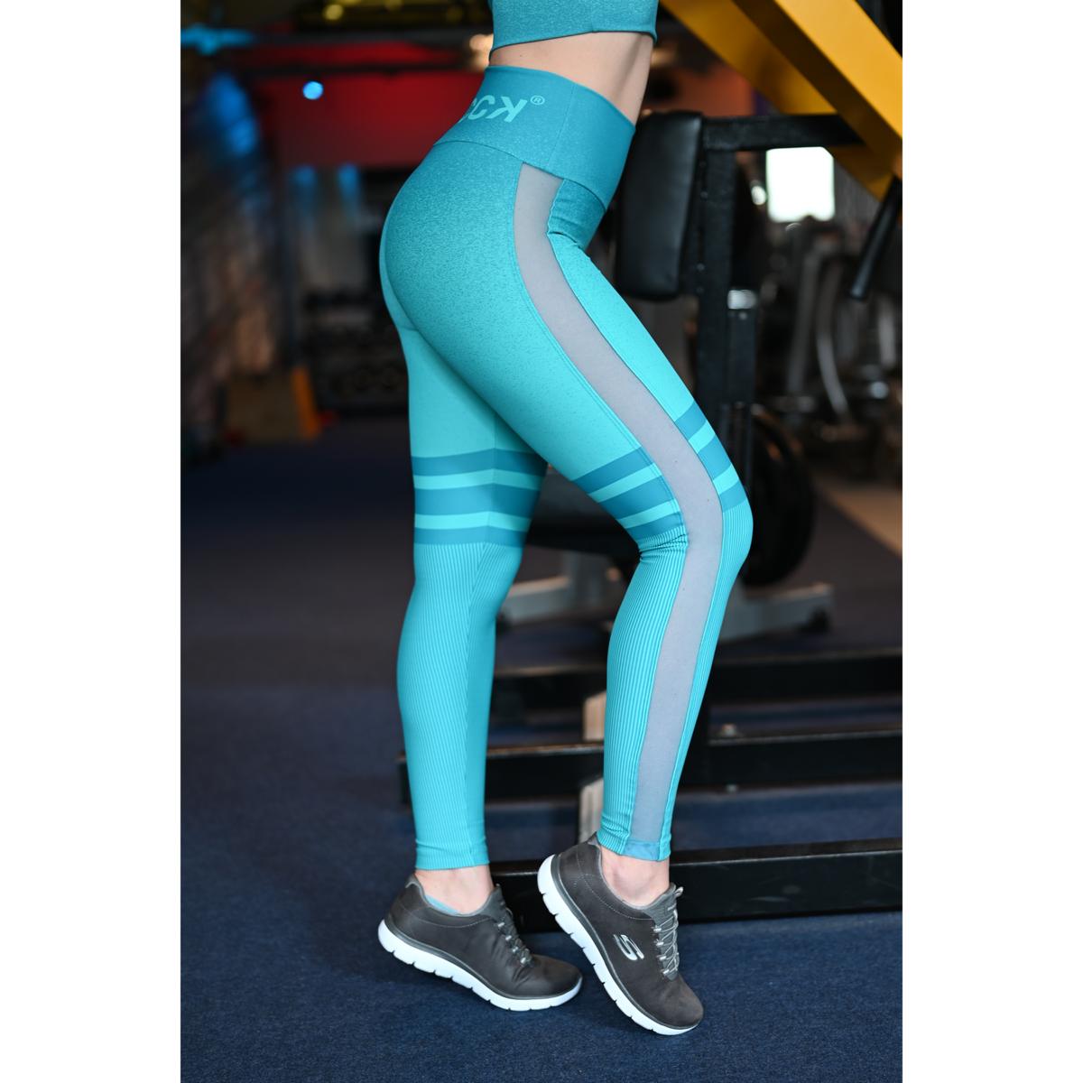 Melange szürke fekete tüll betétes női fitnesz boka nadrág