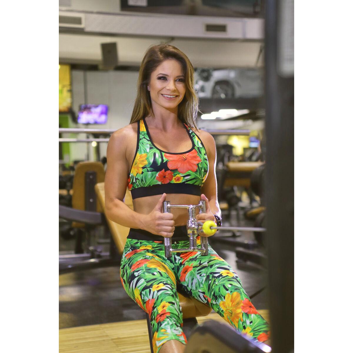 Dzsungel mintás női fitness sport top - CCK - COCKTAIL SPORT
