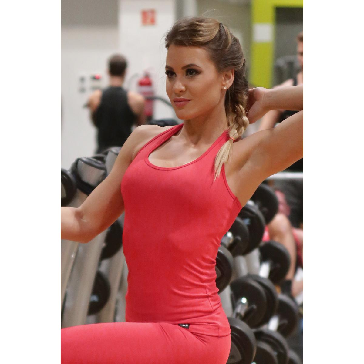 Női basic fitness atléta, piros