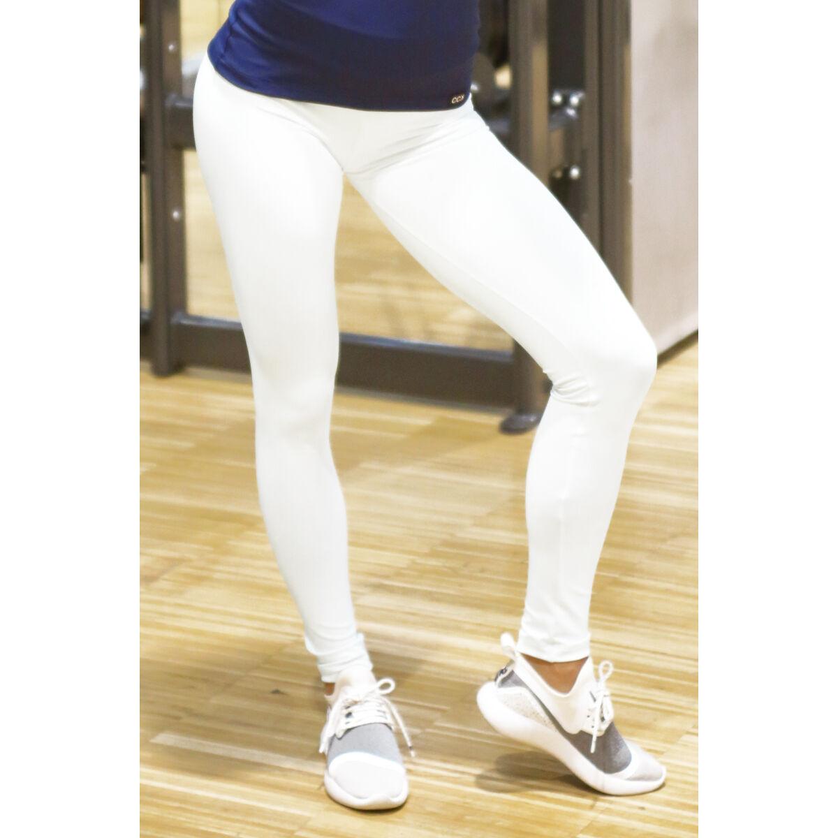 Fehér basic női fitness sport leggings