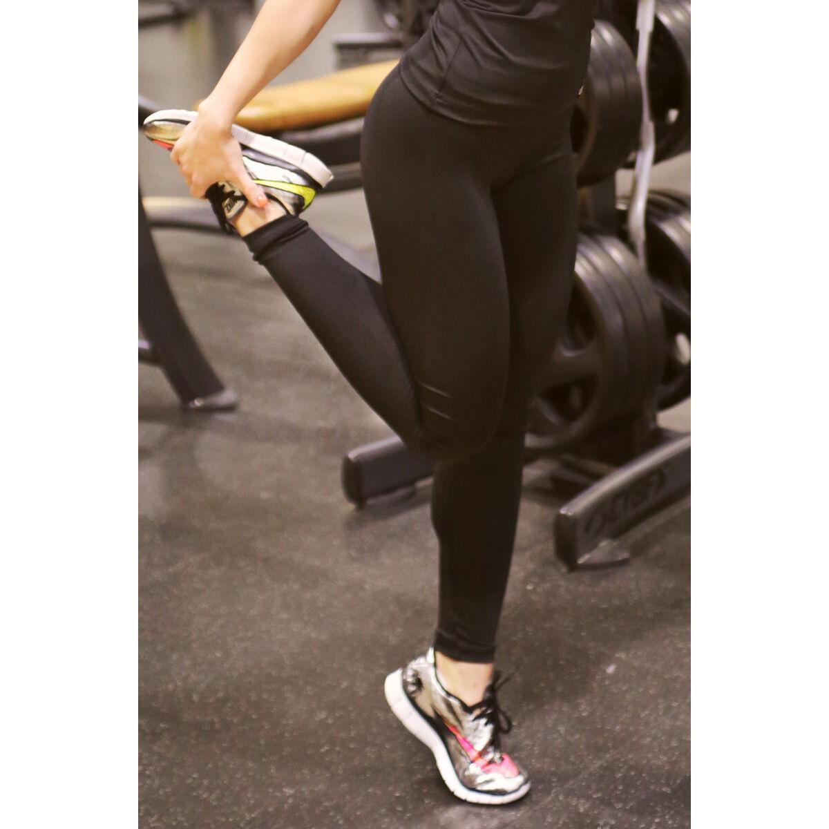 Fekete basic női fitness sport leggings