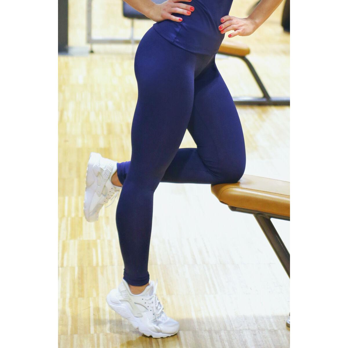 Sötétkék basic női fitness sport leggings