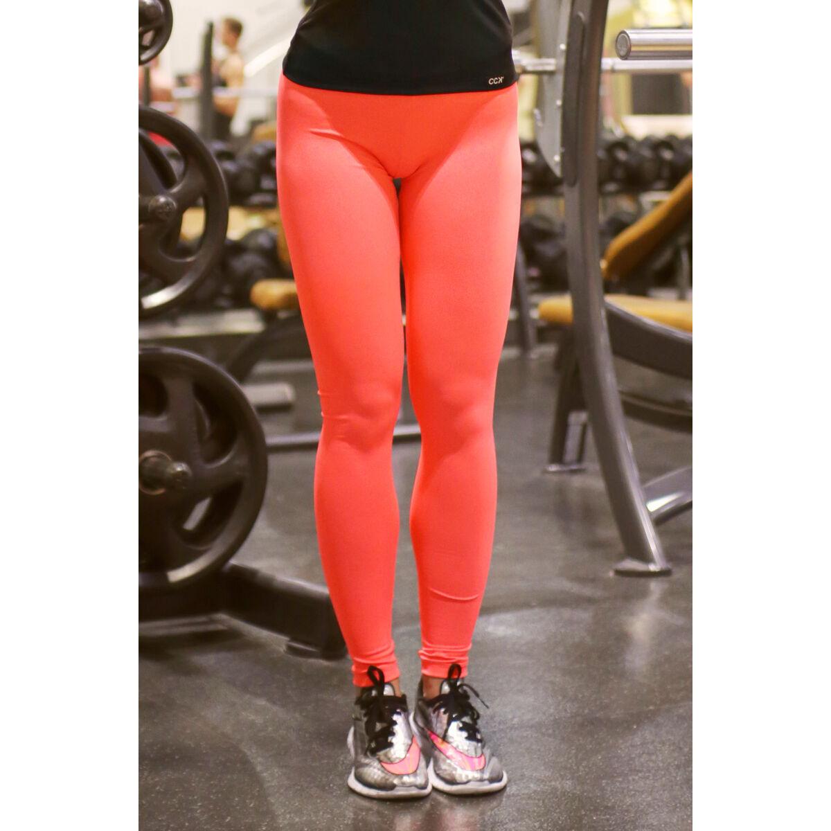 Neon korall (rio) basic női fitness sport leggings