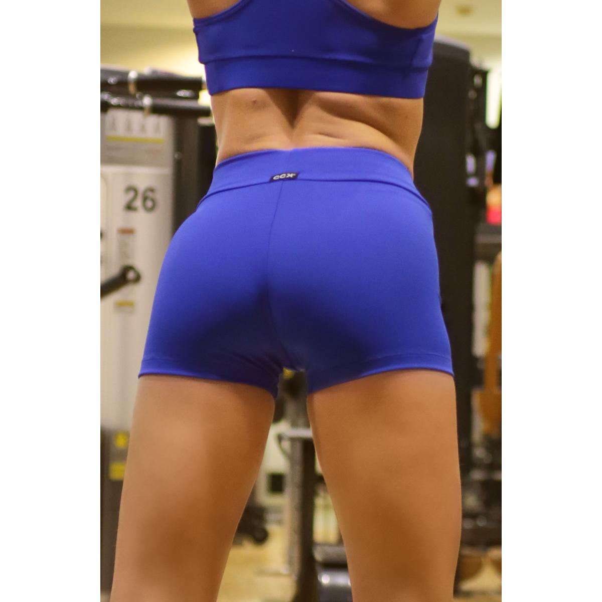 Királykék basic női fitness sport short