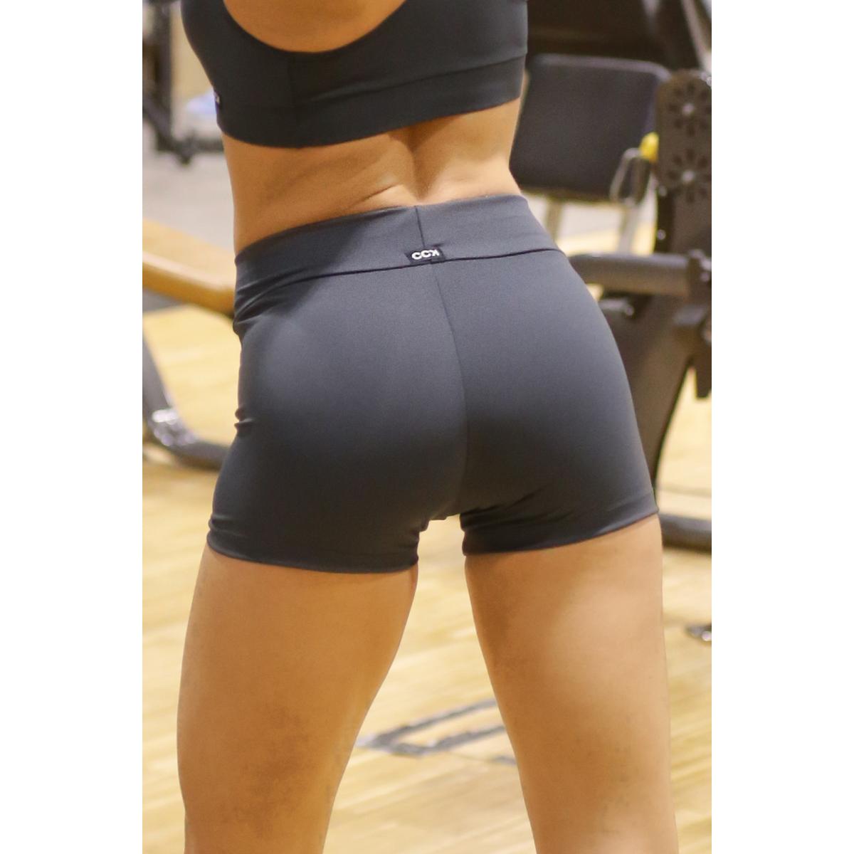 Szürke basic női fitness sport short