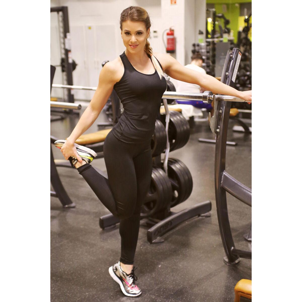 Női basic fitness szett, fekete