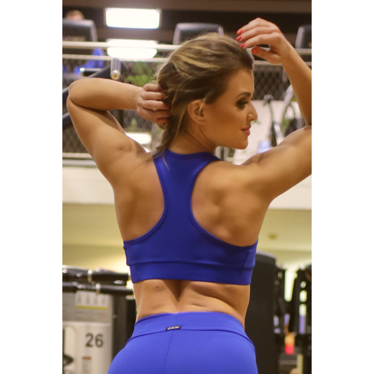 Királykék basic női fitness sport top