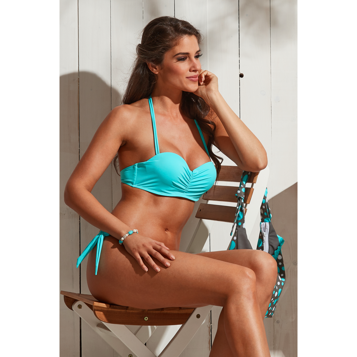 Basic push up bandeau bikini