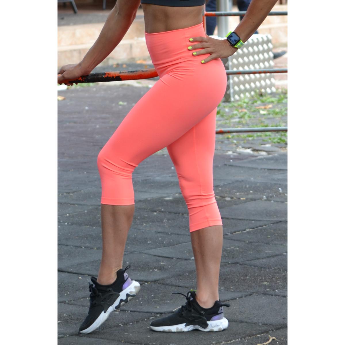 Korall basic magasderekú női fitness sport caprinadrág