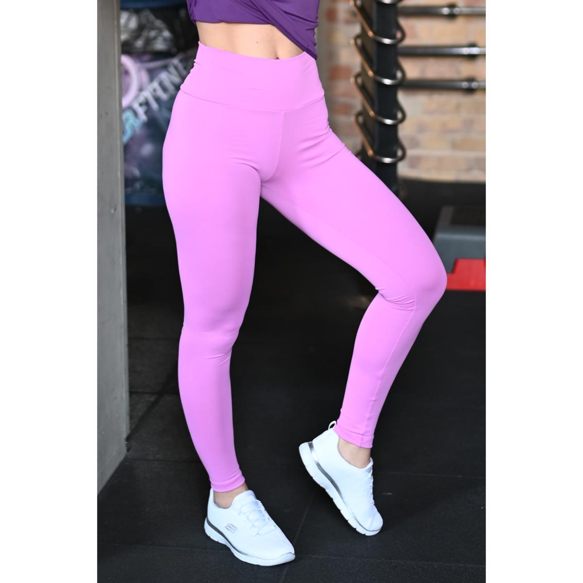 Világos orgona lila basic magasderekú női fitness sport leggings