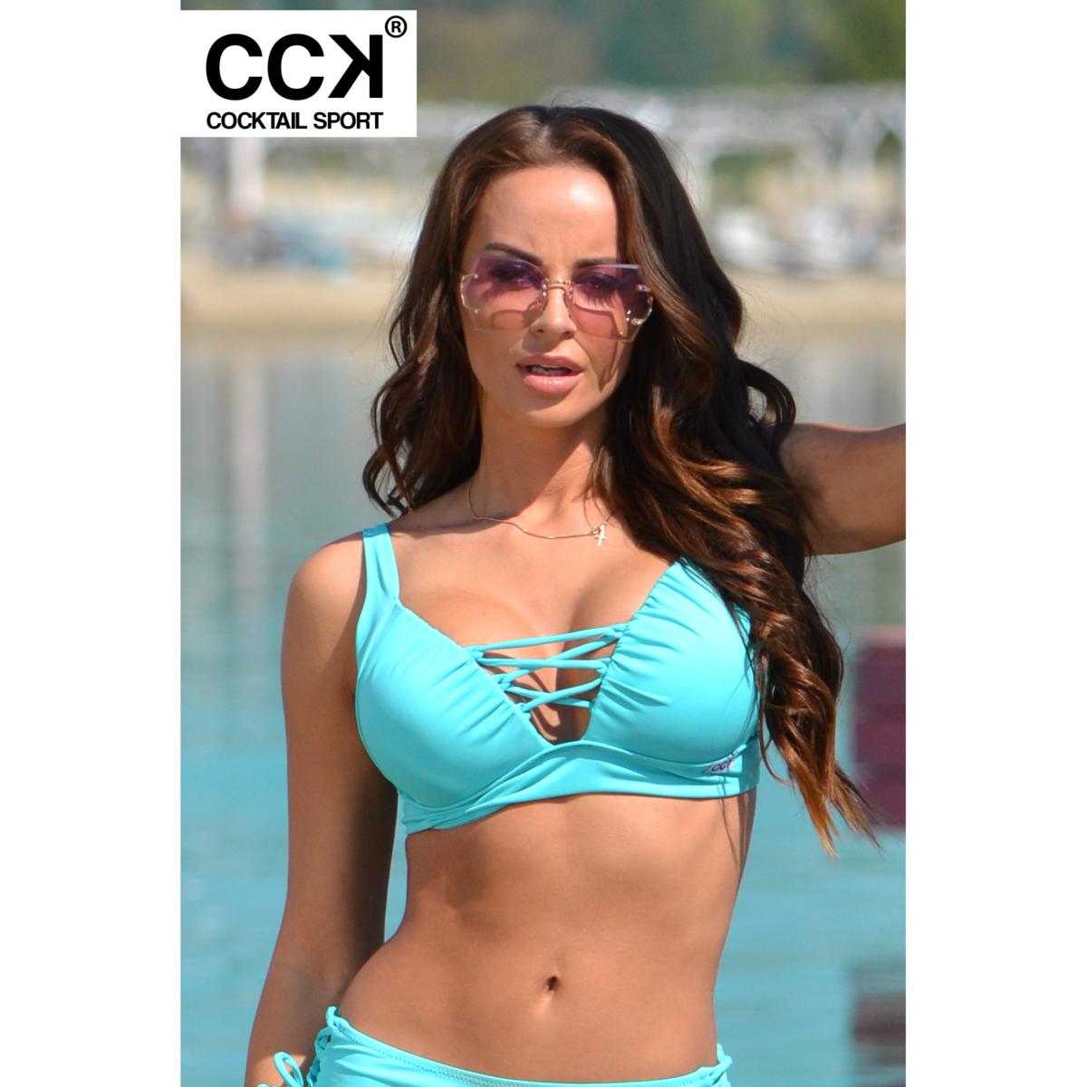 Menta basic, alul és oldalt széles pántos, állítható vállpántos, push up B formakosaras háromszög bikini felső