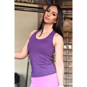 Padlizsán lila basic női fitness atléta