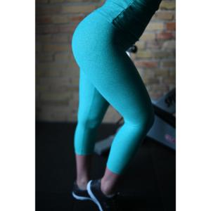Melange menta női fitnesz capri nadrág