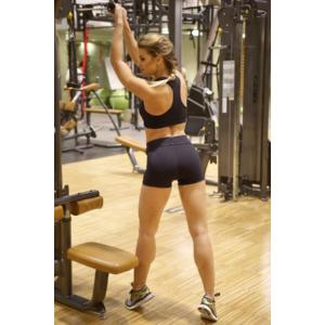 Fekete basic női fitness sport short + top szett