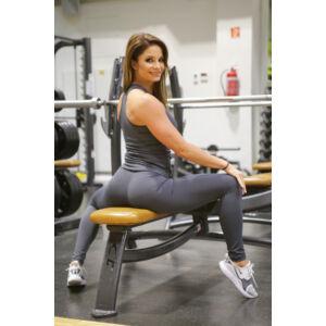 Szürke basic női fitness sport leggings