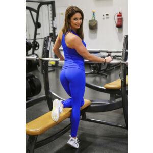 Királykék basic női fitness sport leggings + atléta szett