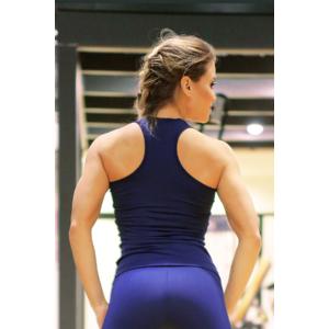 Sötétkék basic női fitness atléta