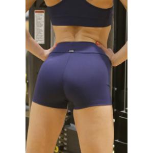 Sötétkék basic női fitness sport short