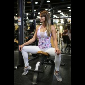 Flame fehér női fitness tüll leggings + fehér-lila virágos flame atléta szett