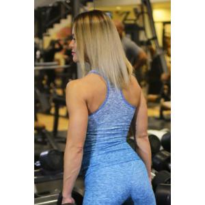 Melange kék női fitnesz atléta