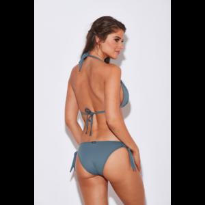 Szürke basic push up háromszög bikini