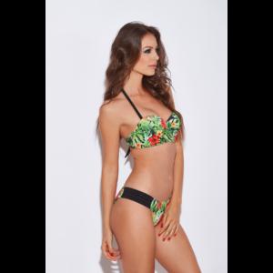 Dzsungel mintás push up bandeau bikini