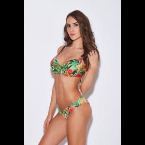 Dzsungel mintás D kosaras melltartó fazonú bikini