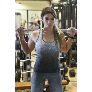 Melange szürke női fitnesz boka nadrág + atléta szett