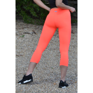 Neon korall (rio) basic női fitness sport capri nadrág