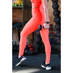 Neon korall (rio) basic magasderekú női fitness sport leggings