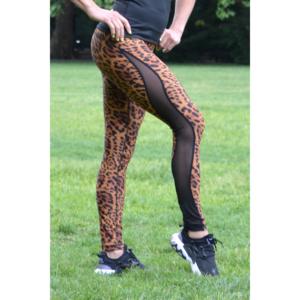 Gepárd mintás flame női fitness tüll leggings
