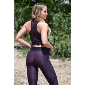 Melange padlizsán női fitnesz íves atléta