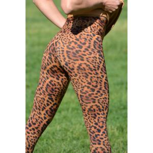 Gepárdmintás, magasderekú leggings