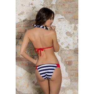 Matróz csíkos push up háromszög bikini