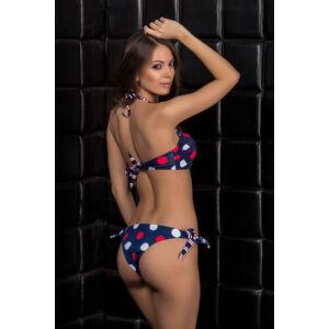 Pöttyös bandeau bikini