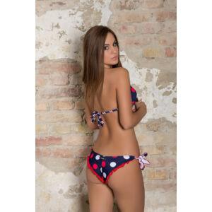 Fodros, pöttyös háromszög bikini