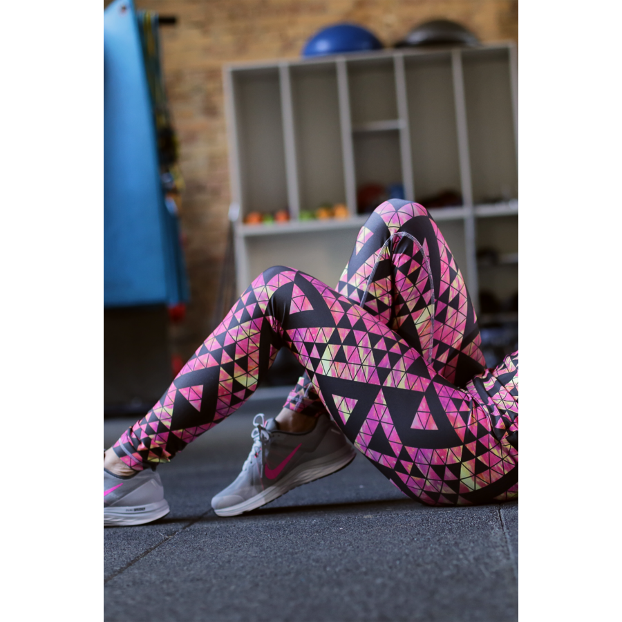 Univerzum pink mintás női fitness boka nadrág - CCK - COCKTAIL SPORT