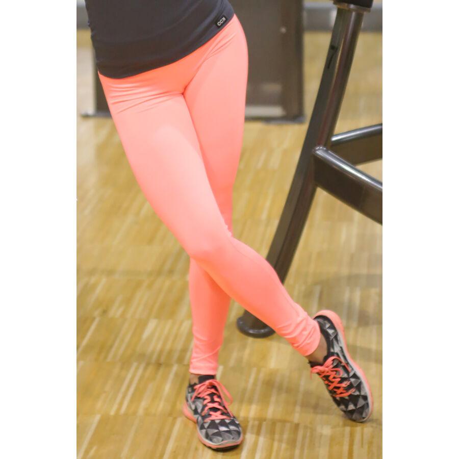 Női basic sport leggings, korall